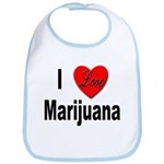 I Love Marijuana Bib