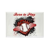Born to Play Baseball Rectangle Magnet (10 pack)