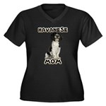 Havanese Mom Women's Plus Size V-Neck Dark T-Shirt