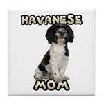 Havanese Mom Tile Coaster