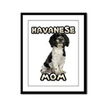 Havanese Mom Framed Panel Print