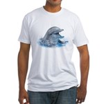 Happy Dolphin Fitted T-Shirt