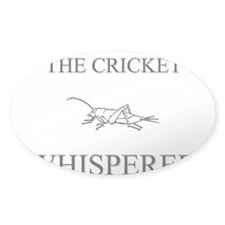 The Cricket Whisperer Oval Decal