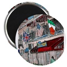 "Patriotic flags USA UK Union 2.25"" Magnet (10 pack"