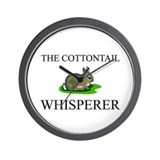The Cottontail Whisperer Wall Clock