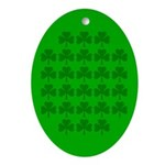 Field Of Shamrocks Oval Ornament