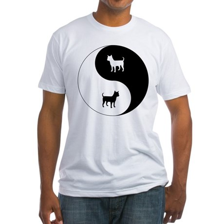 Yin Yang Chihuahua Fitted T-Shirt