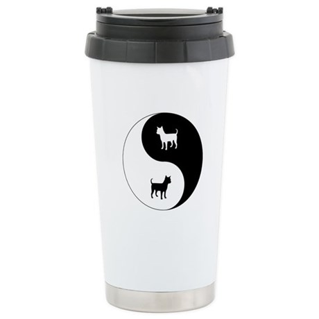 Yin Yang Chihuahua Ceramic Travel Mug