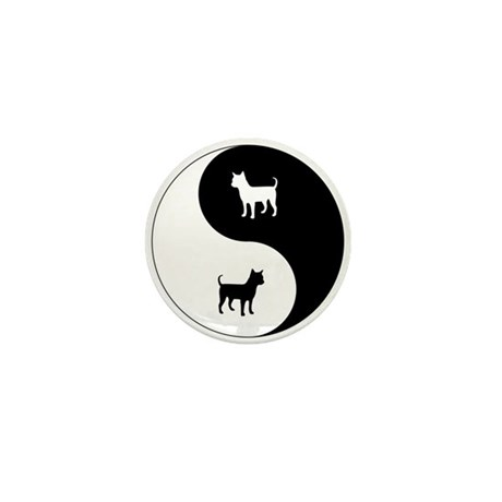 Yin Yang Chihuahua Mini Button