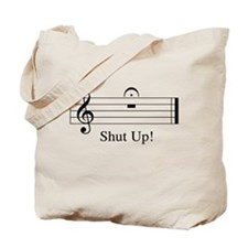 Musical Shut Up Tote Bag