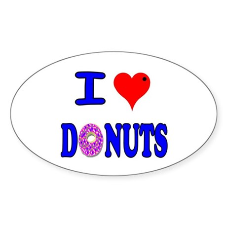 I love Donuts! Oval Sticker