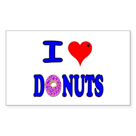 I love Donuts! Rectangle Sticker