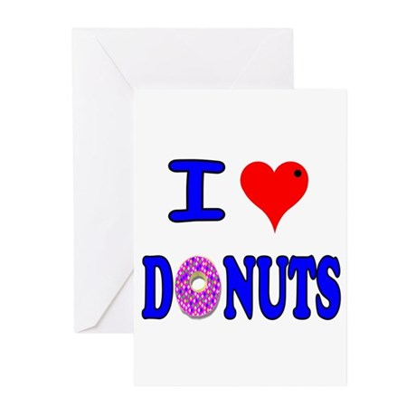 I love Donuts! Greeting Cards (Pk of 10)