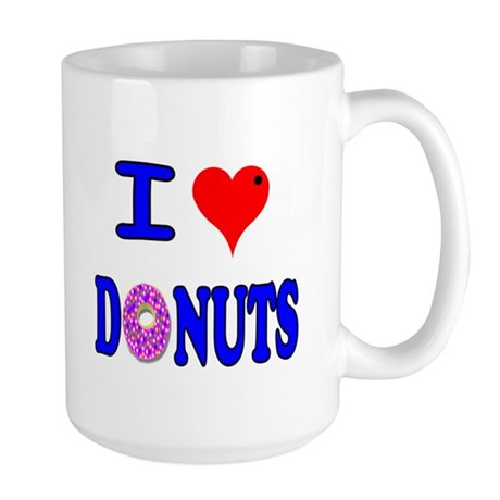 I love Donuts! Large Mug
