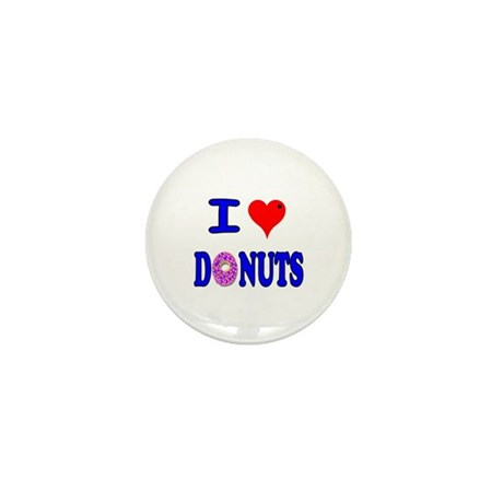 I love Donuts! Mini Button