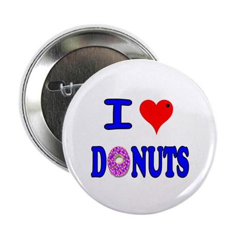 "I love Donuts! 2.25"" Button (10 pack)"