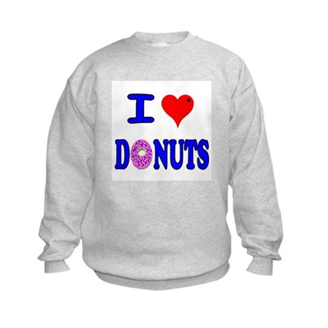 I love Donuts! Kids Sweatshirt