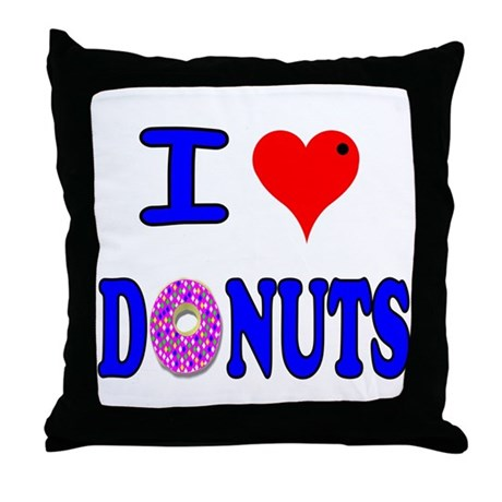 I love Donuts! Throw Pillow