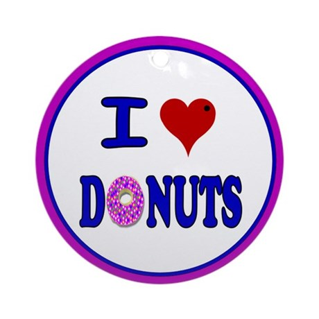 I love Donuts! Ornament (Round)