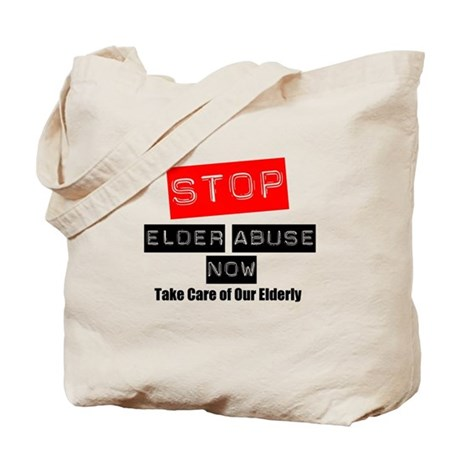 Stop Elder Abuse Now Tote Bag