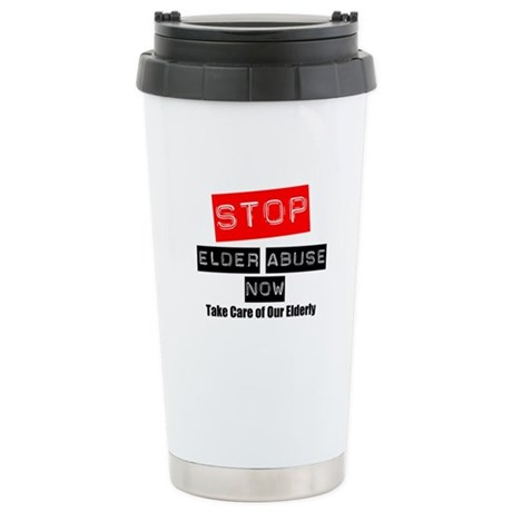 Stop Elder Abuse Now Ceramic Travel Mug