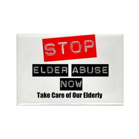 Stop Elder Abuse Now Rectangle Magnet