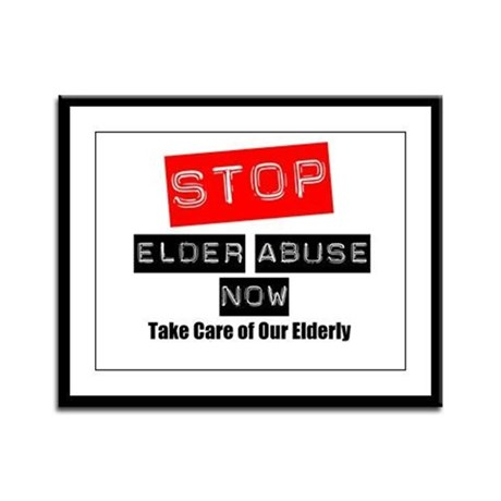 Stop Elder Abuse Now Framed Panel Print