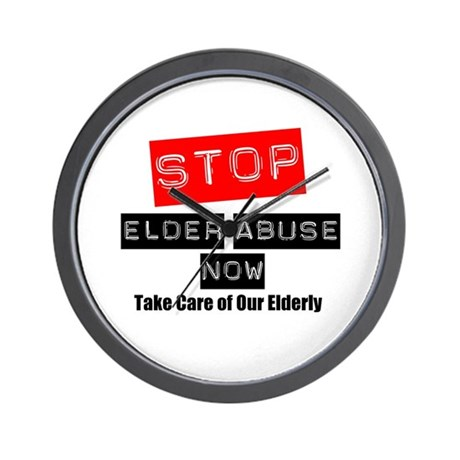 Stop Elder Abuse Now Wall Clock