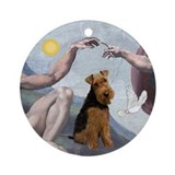 """Creation"" & Welsh Terrier Ornament (Round)"
