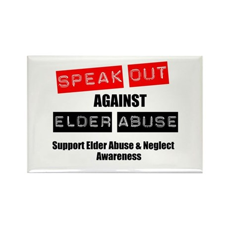 SpeakOut Against ElderAbuse Rectangle Magnet