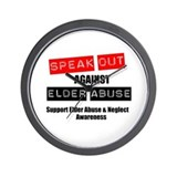 SpeakOut Against ElderAbuse Wall Clock