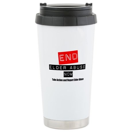 End Elder Abuse Ceramic Travel Mug