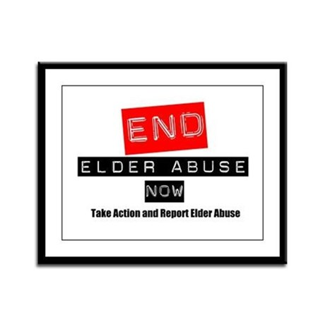 End Elder Abuse Framed Panel Print