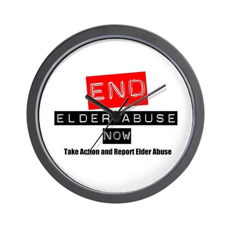 End Elder Abuse Wall Clock
