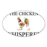The Chicken Whisperer Oval Stickers