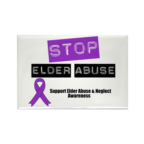 Stop Elder Abuse Rectangle Magnet
