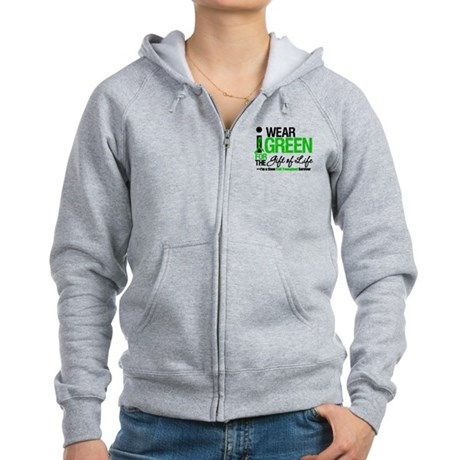 I Wear Green SCT Survivor Women's Zip Hoodie