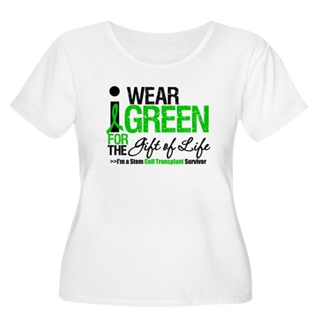 I Wear Green SCT Survivor Women's Plus Size Scoop