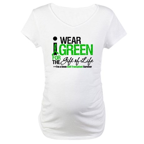 I Wear Green SCT Survivor Maternity T-Shirt