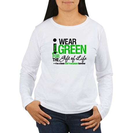 I Wear Green SCT Survivor Women's Long Sleeve T-Sh