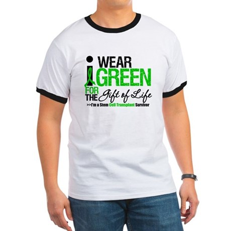 I Wear Green SCT Survivor Ringer T