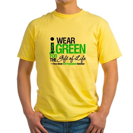 I Wear Green SCT Survivor Yellow T-Shirt