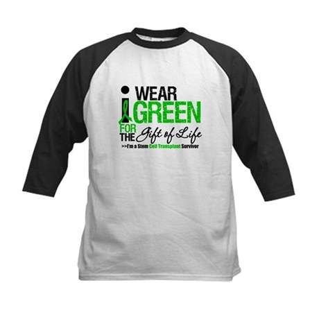 I Wear Green SCT Survivor Kids Baseball Jersey