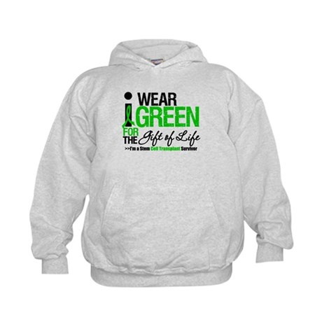 I Wear Green SCT Survivor Kids Hoodie