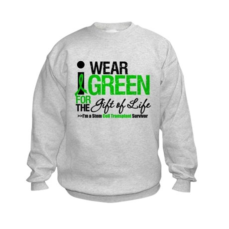 I Wear Green SCT Survivor Kids Sweatshirt