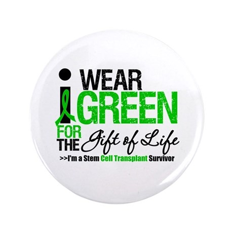 "I Wear Green SCT Survivor 3.5"" Button"