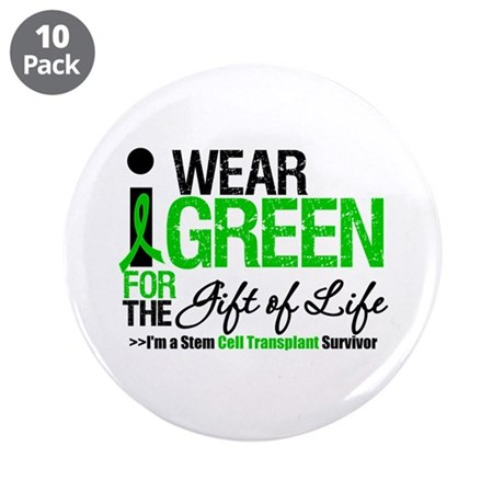 "I Wear Green SCT Survivor 3.5"" Button (10 pack)"