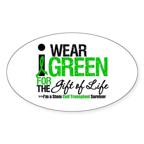 I Wear Green SCT Survivor Oval Sticker (10 pk)