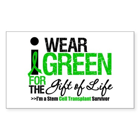 I Wear Green SCT Survivor Rectangle Sticker 50 pk