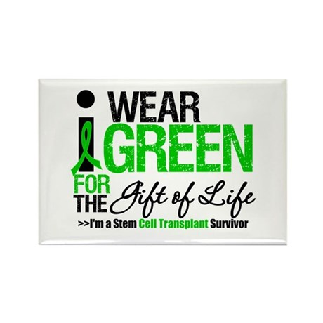 I Wear Green SCT Survivor Rectangle Magnet (100 pa